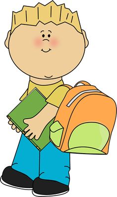 Girl holding a bunch. Baby clipart school