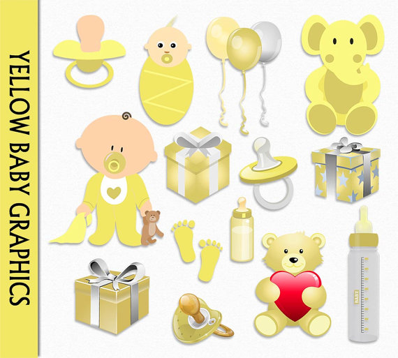 Baby clipart scrapbook. Yellow clip art graphic