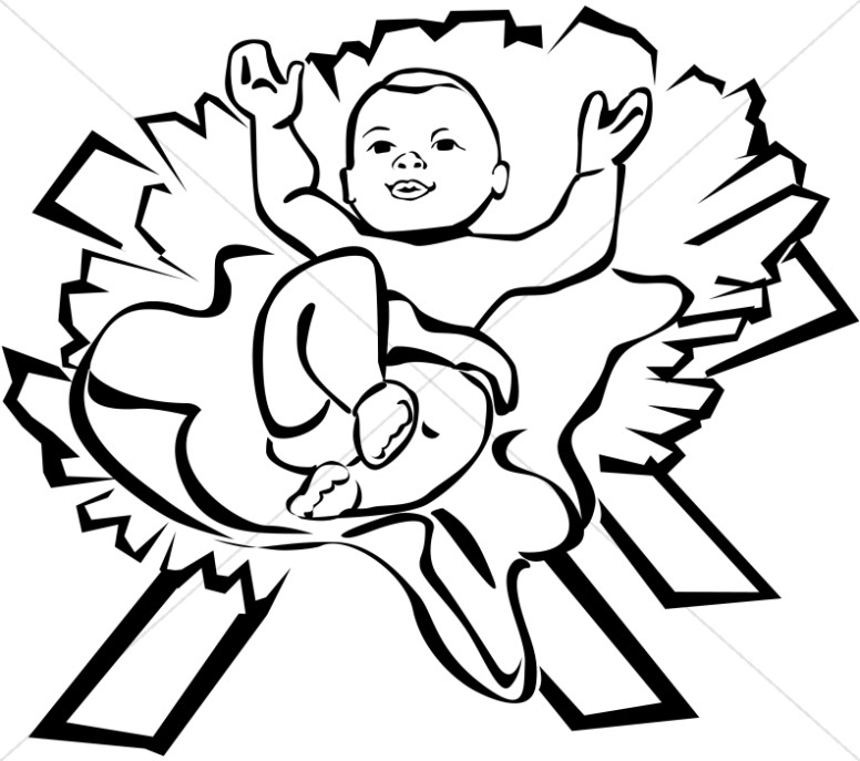 Jesus graphics images sharefaith. Baby clipart simple