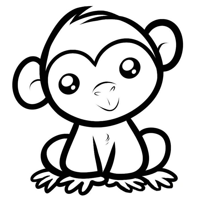 Animals drawing at getdrawings. Baby clipart simple