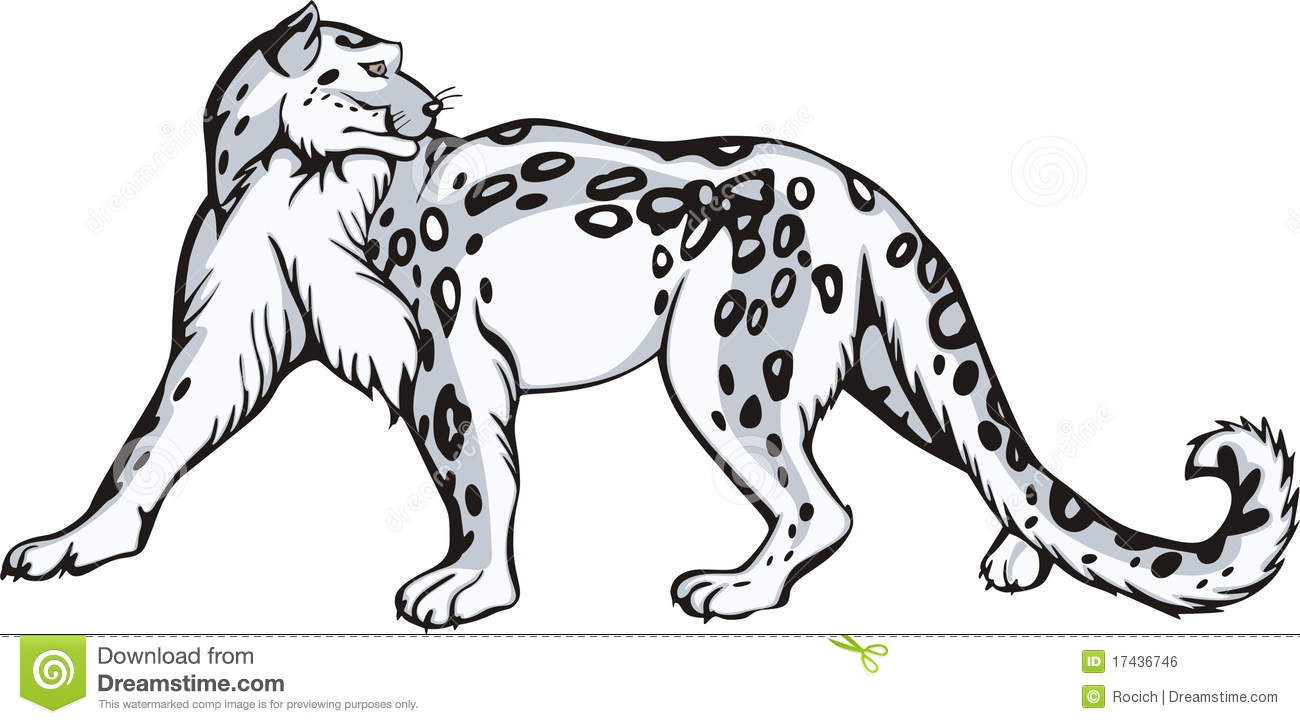 Tribal . Baby clipart snow leopard