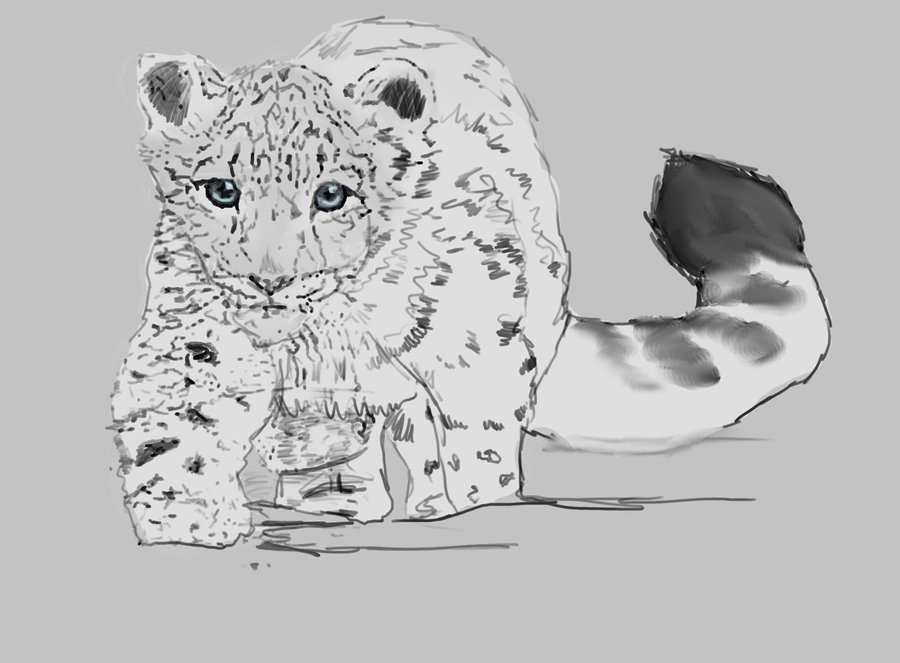 Trace by oddityghosting on. Baby clipart snow leopard