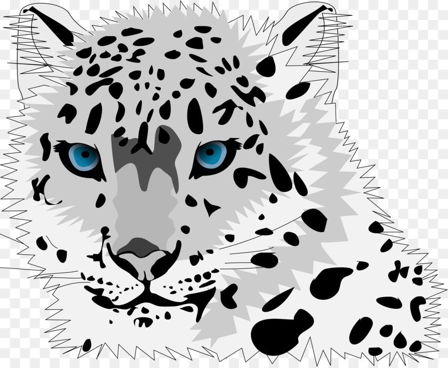 Amur cartoon cat clip. Baby clipart snow leopard