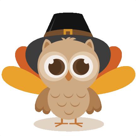 Owl svg cutting file. Clipart thanksgiving cute