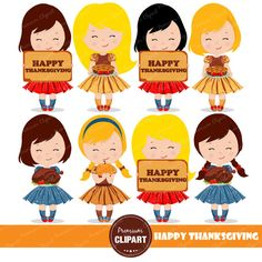 Baby clipart thanksgiving. Cute digital commercial use