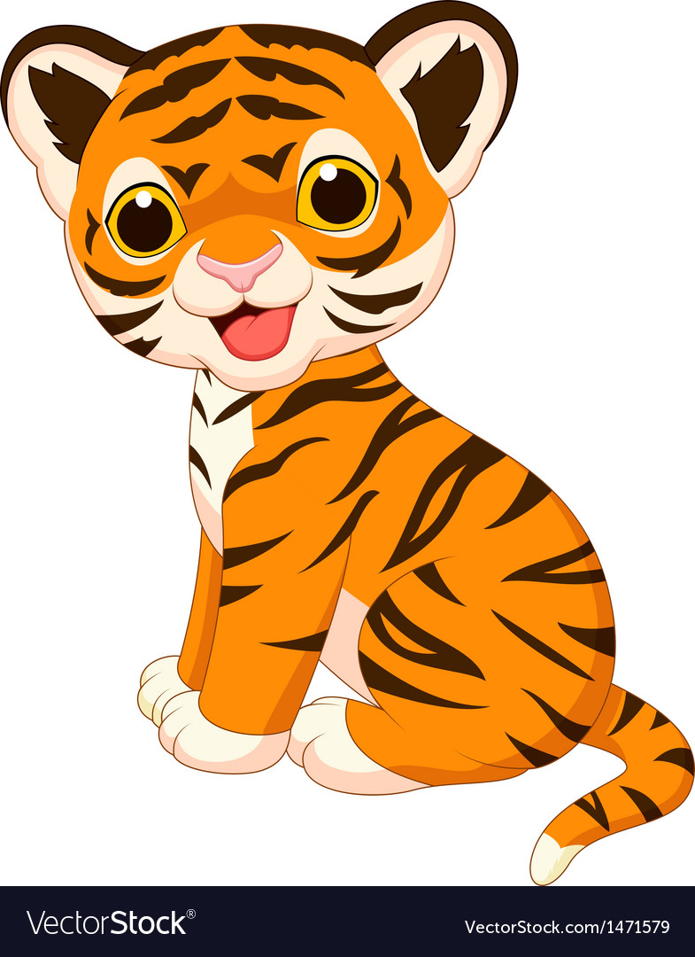 Baby clipart tigers. Face tiger many interesting