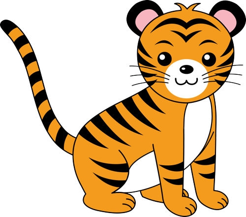 Tiger cute. Baby clipart tigers