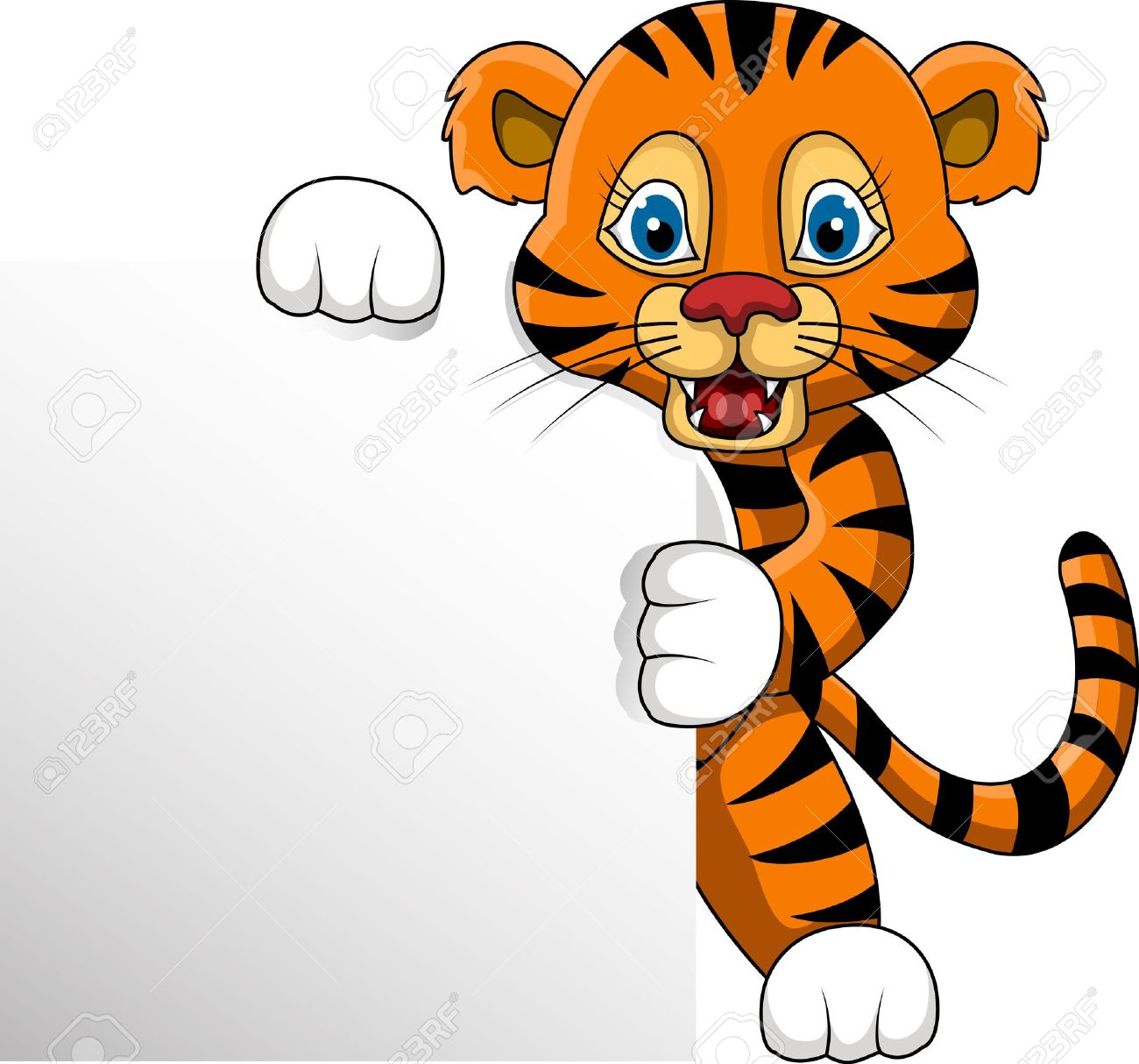 Tigres cartoon pencil and. Baby clipart tigers