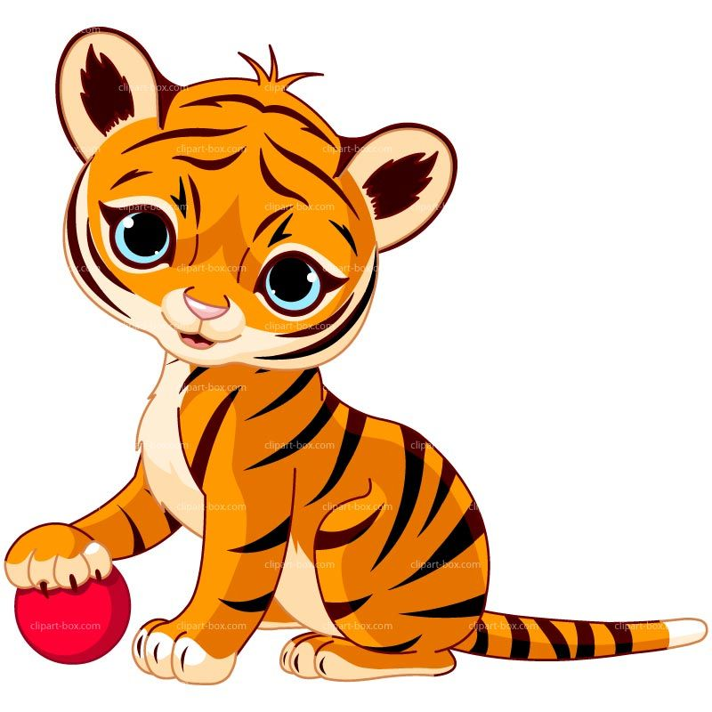 Baby clipart tigers. Tiger playing cheryl s