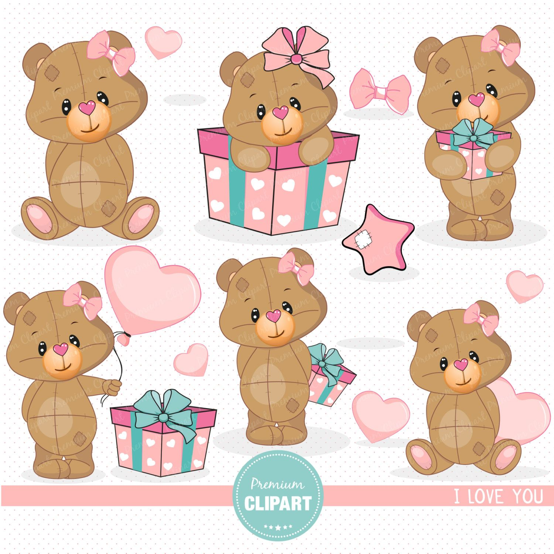 Baby clipart valentine. Teddy bear