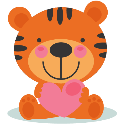 Baby clipart valentine. Image of tiger large