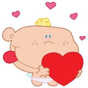 Free cherub image angel. Baby clipart valentine