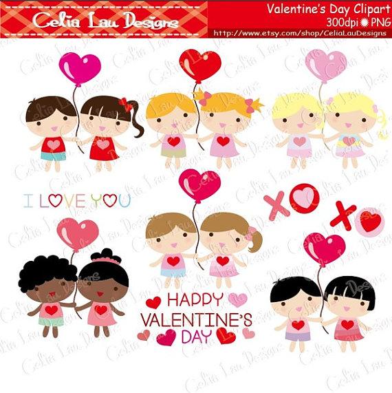 Baby clipart valentine. Kids kawaii