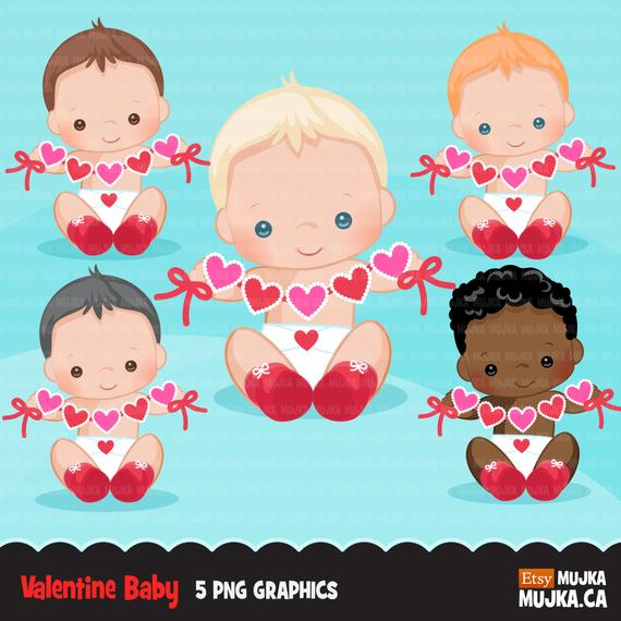 Baby clipart valentine. S day cute boys