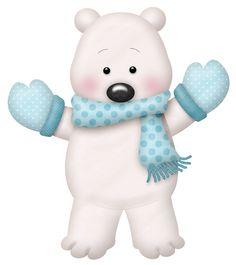 Wonder polar bear bears. Baby clipart winter