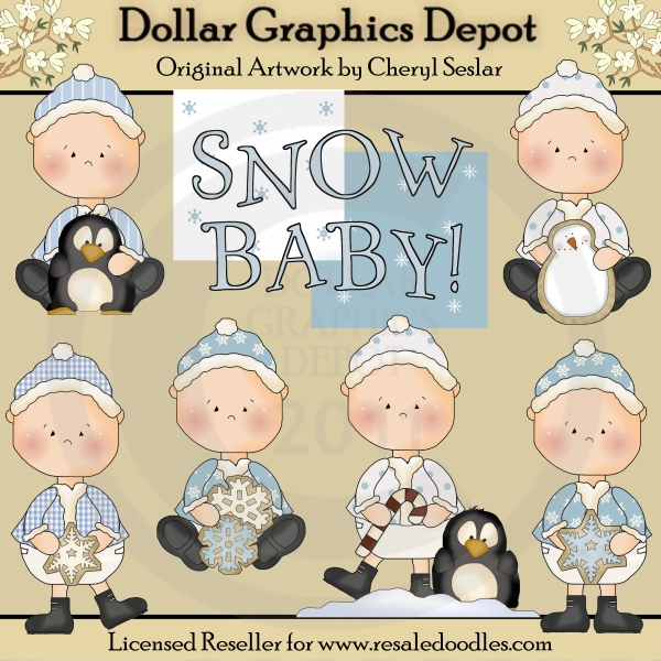 Snow babies clip art. Baby clipart winter