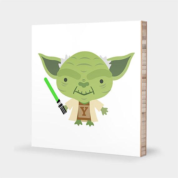 Baby clipart yoda. Star wars nursery wall
