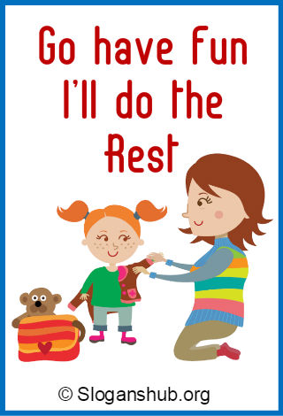 Babysitting clipart abc.  catchy slogans and