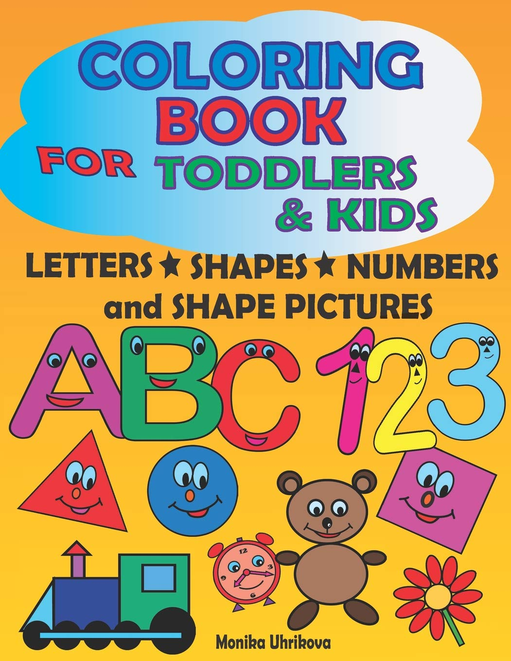 Coloring book for toddlers. Babysitting clipart abc123