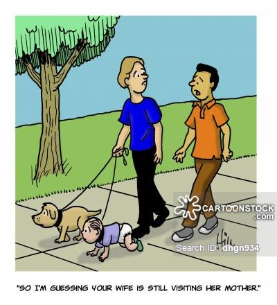 Babysitter cartoons and comics. Babysitting clipart bad family
