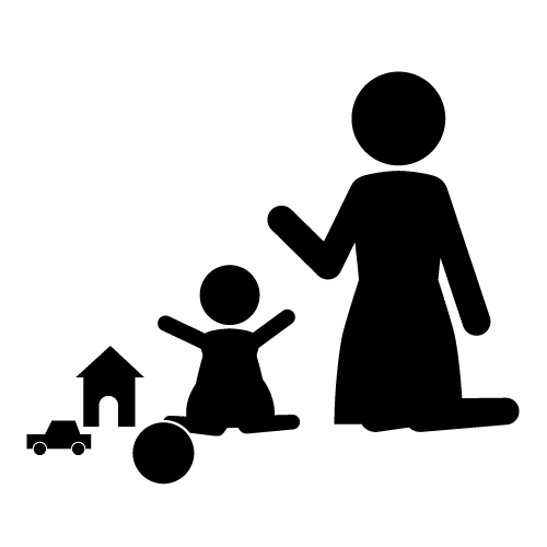 babysitting clipart black and white