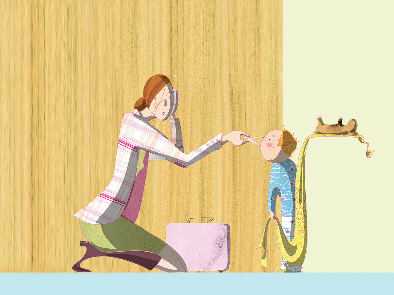 The working parents guide. Babysitting clipart busy parent