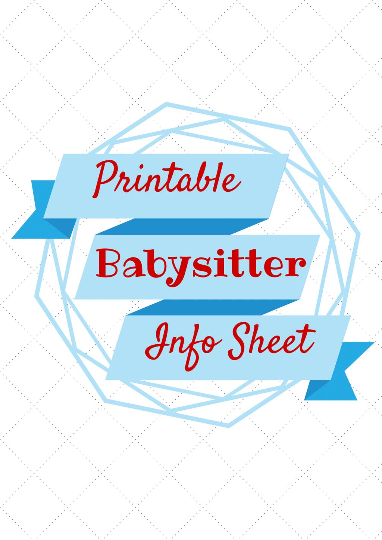 Babysitting clipart busy parent. Babysitter information printable