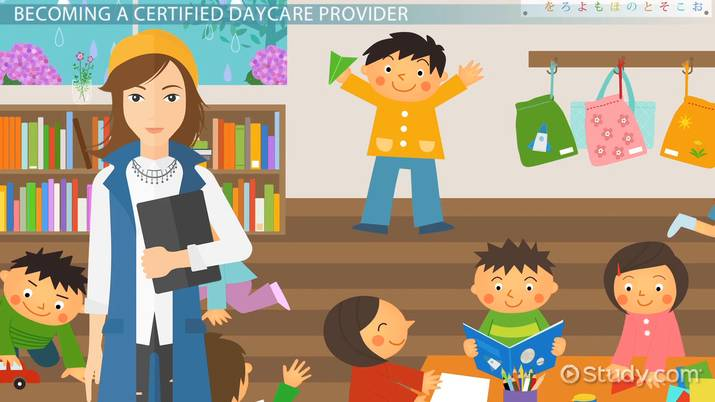 Be a daycare provider. Babysitting clipart certified