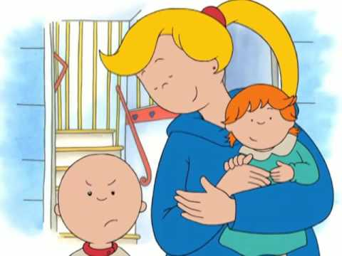 Babysitting clipart child patience. Caillou s new babysitter