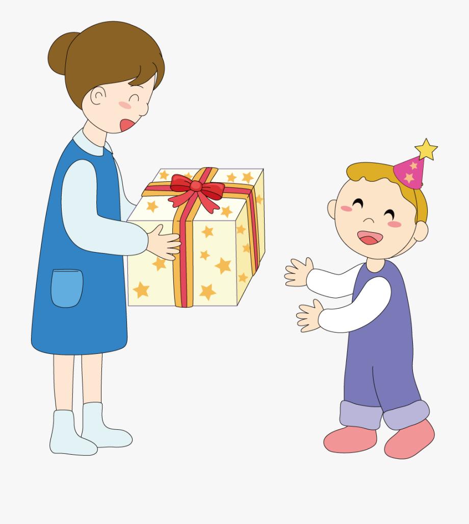 Toddler gift illustration . Mother clipart mother child