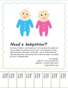Babysitting clipart cute.  cool flyers pinterest