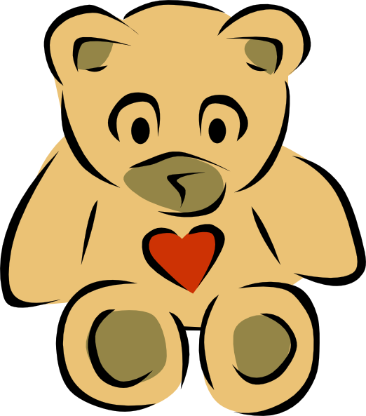Hearts clipart bear.  collection of cute