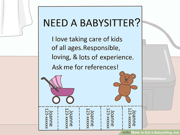 How to get a. Babysitting clipart job