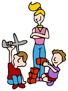 concerns with younger. Babysitting clipart job
