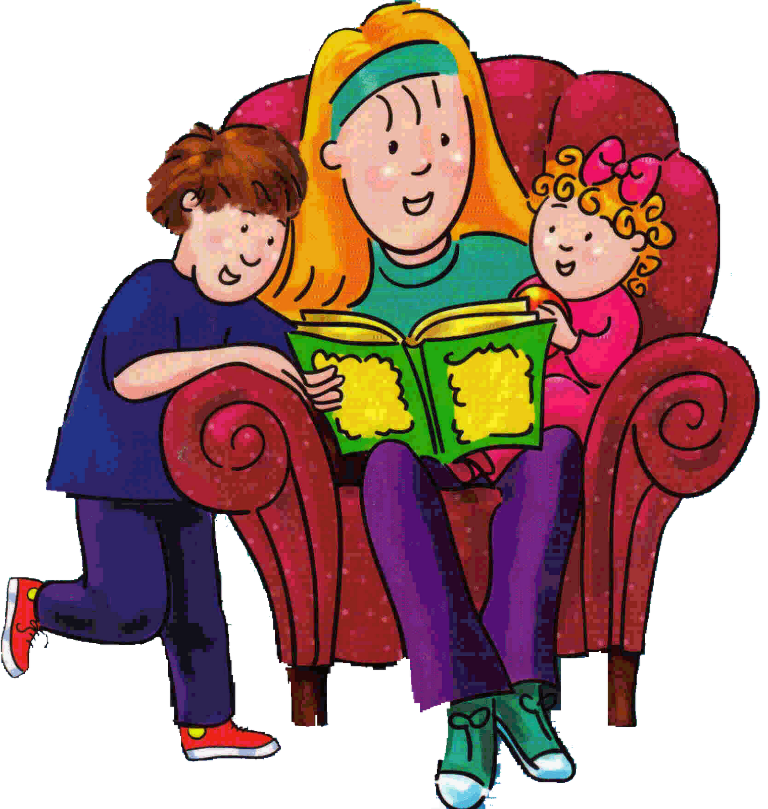 Crayons and checkbooks finding. Pajamas clipart storytime