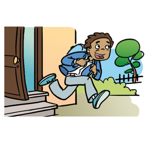 Free leave home cliparts. Babysitting clipart leaving house