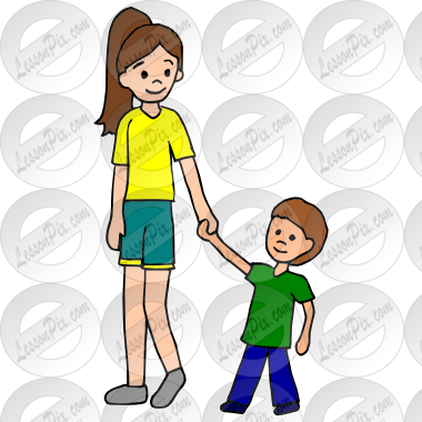 Babysitter picture for classroom. Babysitting clipart male