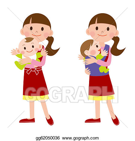 Stock illustration mother and. Babysitting clipart male