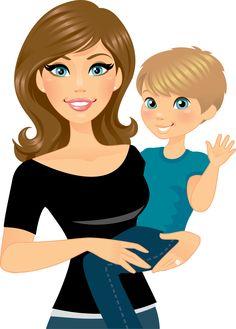 Babysitting clipart mom two kid. A babysitter nanny reading