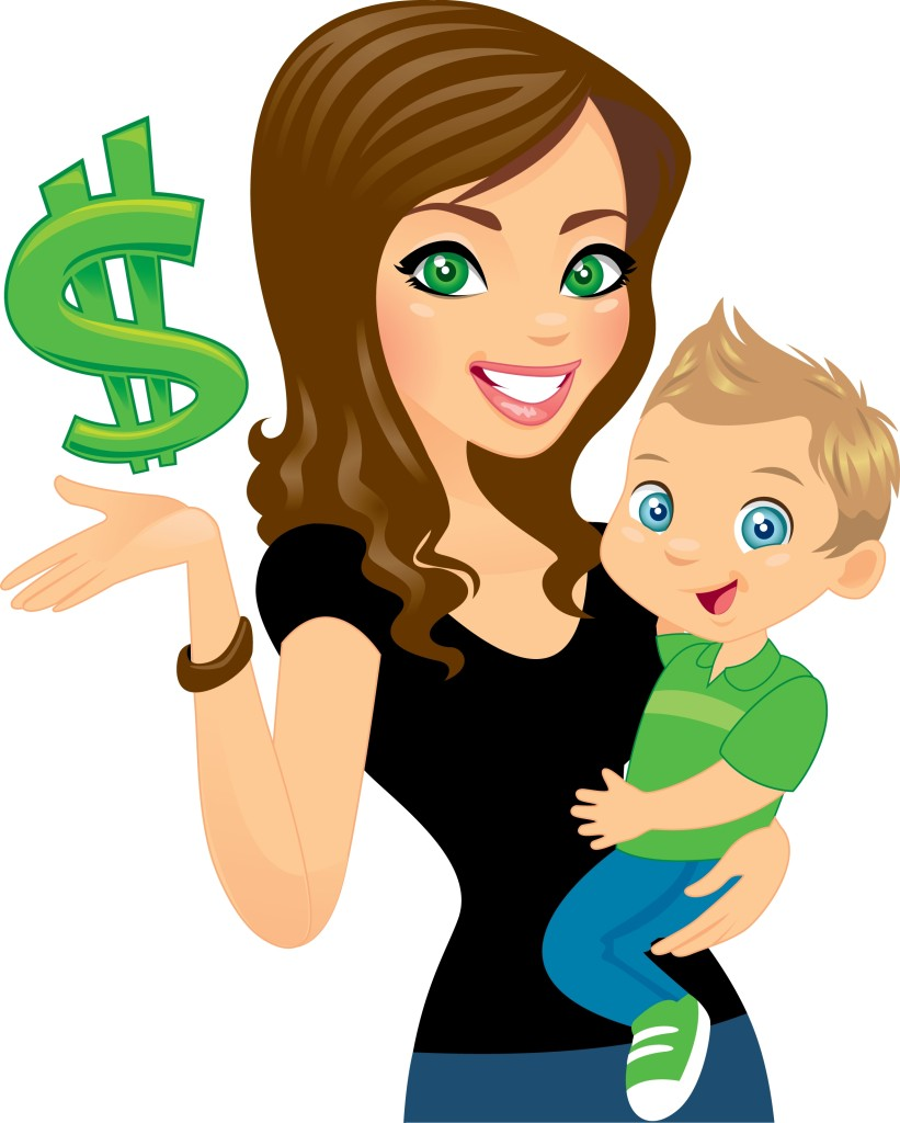 Kids who love their. Babysitting clipart mom two kid