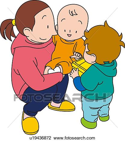 Clip art of basitter. Babysitting clipart professional