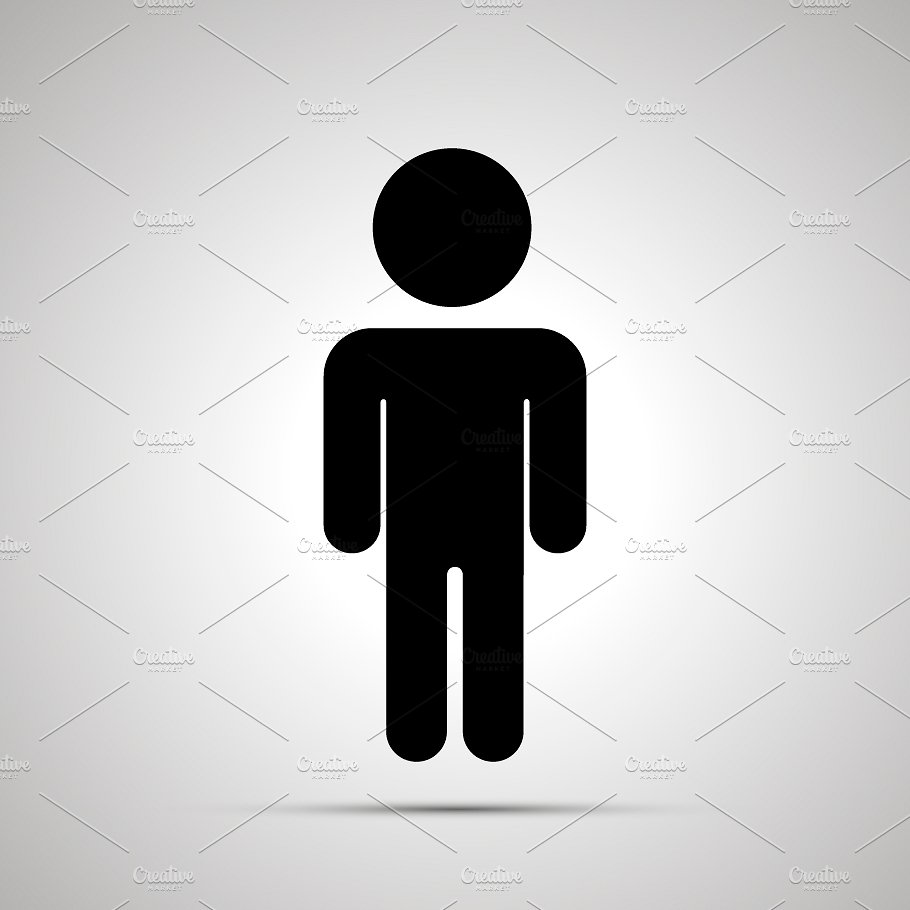 Babysitting clipart silhouette. Boy simple black icon
