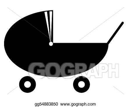 Stock illustration of a. Babysitting clipart silhouette