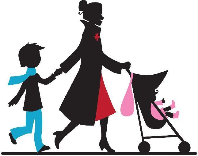 Babysitting clipart silhouette.  best nanny stuff