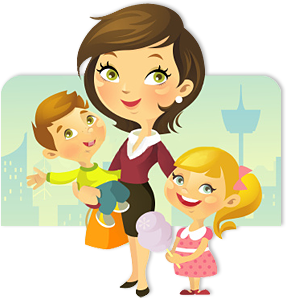 Babysitting clipart single mother. Help for mothers mom