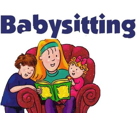 Baby sitting for small. Babysitting clipart sit