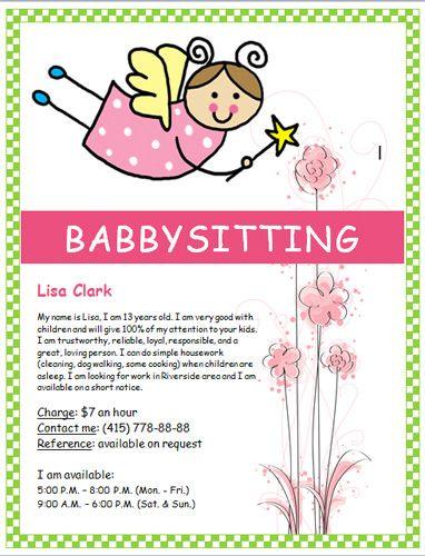 Image on hloom com. Babysitting clipart summer