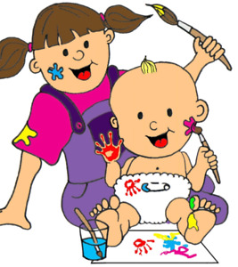 Babysitter bay area . Babysitting clipart woman child