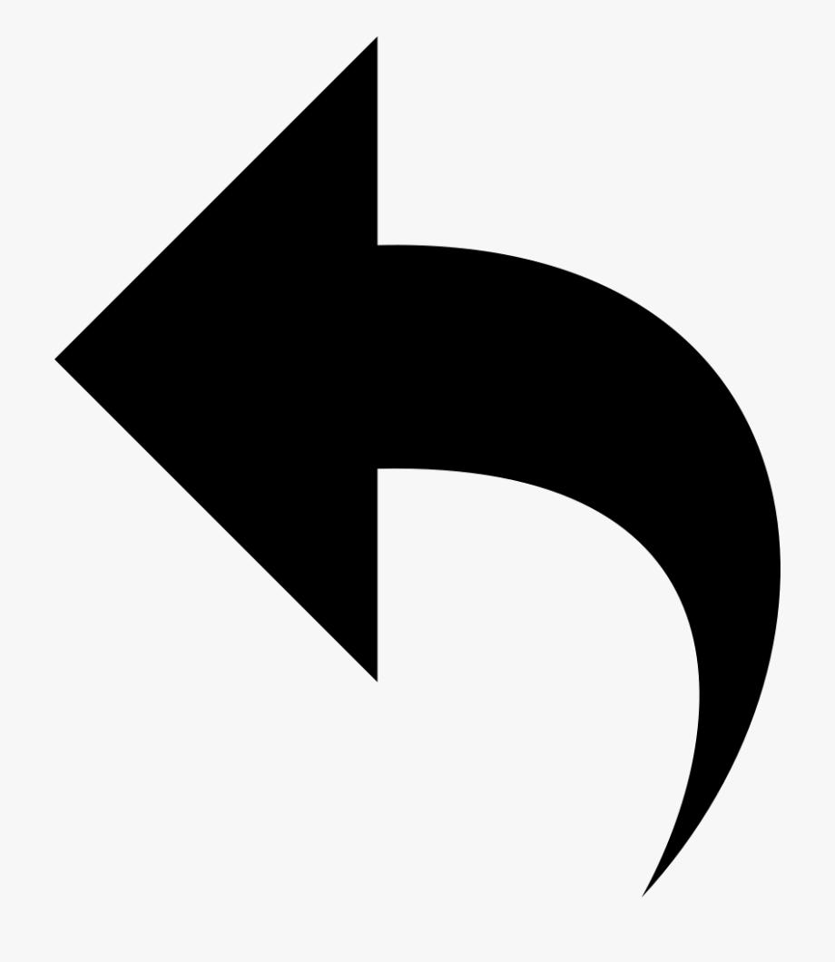 Svg curve down icon. Back clipart arrow