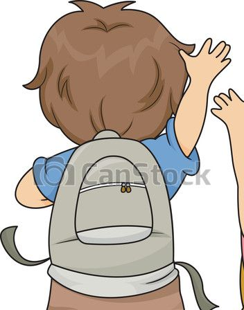 Vector of view kids. Back clipart back boy
